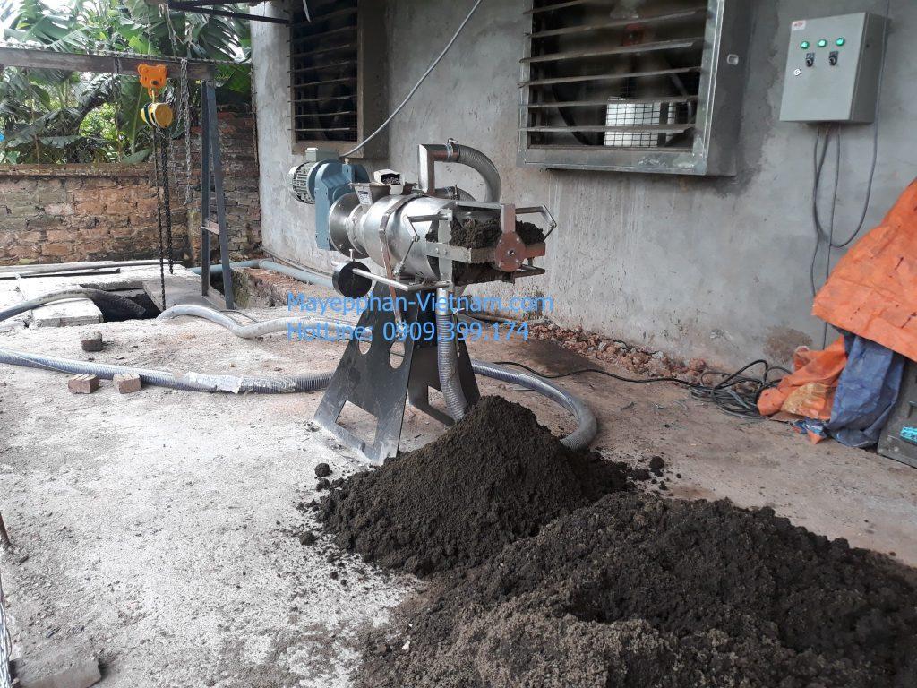 Máy ép phân trang trại 2.000 heo Hà Nội